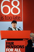 Christine Blower of the NUT, addresses a trade union rally calling for Fair Pensions For All, London - Stefano Cagnoni - 2010s,2012,68,68 is too late,activist,activists,against,Austerity Cuts,CAMPAIGN,campaigner,campaigners,CAMPAIGNING,CAMPAIGNS,cut,cuts,DEMONSTRATING,DEMONSTRATION,DEMONSTRATIONS,Fair,Fair Pensions,Lond