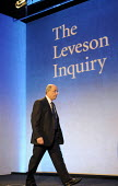 Lord Justice Leveson arrives at his press conference at the QEII Centre to officially launch the results of his Inquiry into media ethics and practise: The Leveson Report. - Stefano Cagnoni - 29-11-2012