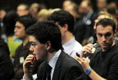 Members of the media listen attentively to Lord Justice Leveson speaking at his press conference at the QEII Centre to officially launch the results of his Inquiry into media ethics and practise: The... - Stefano Cagnoni - 29-11-2012