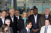 Victims of telephone hacking, including Kate McCann, centre, Bob Dowler, top right, and Jacqui Hames, bottom left, listen to David Sherborne, the lawyer representing victims at the Levenson Inquiry as... - Stefano Cagnoni - ,2010s,2012,BAME,BAMEs,black,bme,bmes,Bob,communicating,communication,conference,conferences,cultural,diversity,Dowler,ethics,ethnic,ethnicity,hacking,Hames,Jacqui,journalism,journalist,journalists,Ka