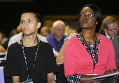 Delegates listening to debate at the 2012 TUC Congress. - Stefano Cagnoni - 2010s,2012,attention,attentive,BAME,BAMEs,black,BME,bmes,conference,conferences,DELEGATE,Delegates,diversity,ethnic,ethnicity,female,intelligence,intelligent,interested,listening,member,member members