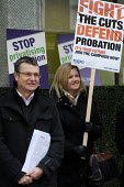 Probation Officers and members of UNISON & NAPO demonstrate in support of a Help Save Probation from privatisation campaign, outside a Ministry of Justice sponsored Transforming Rehabilitation consult... - Stefano Cagnoni - 08-02-2013