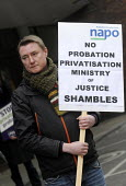 Probation Officers and members of NAPO demonstrate in support of a Help Save Probation from privatisation campaign, outside a Ministry of Justice sponsored Transforming Rehabilitation consultation for... - Stefano Cagnoni - 08-02-2013