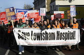 Save Lewisham Hospital march and rally. Local people demonstrate against the plans to close their local A & E and maternity health facilities. - Stefano Cagnoni - 2010s,2013,activist,activists,against,Austerity Cuts,BAME,BAMEs,black,black.,BME,bmes,CAMPAIGN,campaigner,campaigners,CAMPAIGNING,CAMPAIGNS,cultural,cuts,demonstrate,DEMONSTRATING,demonstration,DEMONS