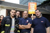 Picket line at Euston firestation during the FBU national short four hour strike against plans to change their firefighter members' pension provision - Stefano Cagnoni - 25-09-2013