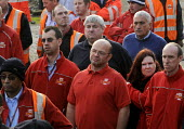 CWU members at a mass meeting following the privatisation of the Royal Mail, Mount Pleasant Sorting Office, London - Stefano Cagnoni - 15-10-2013