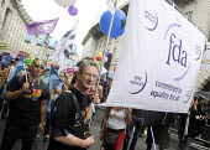 Gay Pride. London. 2014. FDA trade union members on the parade. - Stefano Cagnoni - 28-06-2014