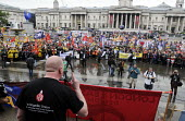 Matt Wrack, FBU Gen Sec speaking. Public sector workers strike over pay, pensions and workload. Strike rally, Trafalgar Square, London. Matt Wrack, FBU Gen Sec speaking. - Stefano Cagnoni - 10-07-2014