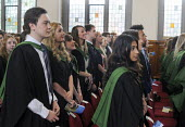 Maths Graduands waiting their turn to collect their degrees at their Graduation ceremony at the University of Leeds. - Stefano Cagnoni - 16-07-2014