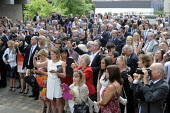 Parents, family and friends taking photographs of students after a Graduation ceremony, University of Leeds - Stefano Cagnoni - 16-07-2014