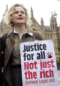 Save Legal Aid rally opposite Parliament. Grayling Day. Westminster. London. Actor, Maxine Peake, who plays QC Martha Costello in BBC TV's drama, 'Silk' in support of the rally against cuts to legal a... - Stefano Cagnoni - 07-03-2014