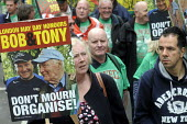 Lives of Socialists, Bob Crow and Tony Benn honoured, May Day march, 2014, London. - Stefano Cagnoni - 01-05-2014