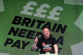 TUC Britain Needs A Pay Rise national demonstration and rally, 2014, London. Matt Wrack, Gen. Sec., FBU, speaking. - Stefano Cagnoni - 18-10-2014