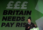 TUC Britain Needs A Pay Rise national demonstration and rally, 2014, London. Mark Serwotka, Gen. Sec., PCS, speaking. - Stefano Cagnoni - 18-10-2014