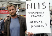 Jarrow People's March for the NHS. After 300 miles the march arrives in London for a demonstration and rally in Trafalgar Square in support of the National Health Service. - Stefano Cagnoni - 06-09-2014