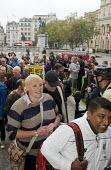 National Gallery PCS strikers returning to work after 111 days with Candy Udwin re-instated and having agreed the London Living wage - Stefano Cagnoni - 05-10-2015