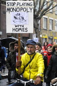 March For Homes. Demonstration for affordable housing, rent controls and building of new social housing in the UK. - Stefano Cagnoni - 31-01-2015