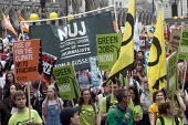 No to Austerity march, London, 2015. NUJ trade union members on the march - Stefano Cagnoni - 20-06-2015