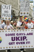 UKIP supporters on Pride in London Parade - Stefano Cagnoni - 2010s,2015,ACE,activist,activists,against,banner,banners,CAMPAIGN,campaigner,campaigners,CAMPAIGNING,CAMPAIGNS,CELEBRATE,CELEBRATING,celebration,celebrations,Culture,DEMONSTRATING,demonstration,DEMONS