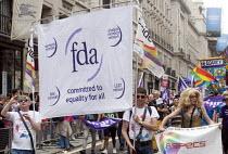 FDA members on the Pride in London Parade, 2015 - Stefano Cagnoni - 27-06-2015
