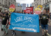 PCS members from National Gallery Strikers on Pride in London Parade, 2015 - Stefano Cagnoni - 27-06-2015