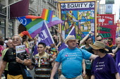 EQUITY members on Pride in London Parade, 2015 - Stefano Cagnoni - 27-06-2015