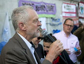Jeremy Corbyn MP speaking at Drop The Debt rally in support of the Greek people and Syriza against further austerity cuts imposed by the Troika, Trafalgar Square, London, 2015. - Stefano Cagnoni - 29-06-2015
