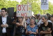 Oxi means No. Drop The Debt rally in support of the Greek people and Syriza against further austerity cuts imposed by the Troika, Trafalgar Square, London, 2015. - Stefano Cagnoni - 29-06-2015