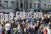 Drop The Debt rally in support of the Greek people and Syriza against further austerity cuts imposed by the Troika, Trafalgar Square, London, 2015. - Stefano Cagnoni - 29-06-2015