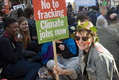 Time To Act. Climate Change demonstration, London, 2015. Demonstrators stage a sit-down as part of their protest. - Stefano Cagnoni - 07-03-2015