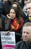 Stand up to racism & fascism march and rally, Trafalgar Square, London. - Stefano Cagnoni - 2010s,2015,activist,activists,against,Anti Racism,anti racist,anti-racism,anti-racist,BAME,BAMEs,BME,bmes,CAMPAIGN,campaigner,campaigners,CAMPAIGNING,CAMPAIGNS,DEMONSTRATING,DEMONSTRATION,DEMONSTRATIO