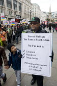 Black activist, Lee Jasper on an anti-racist march and rally with a message for Trevor Phillips, London. - Stefano Cagnoni - 2010s,2015,activist,activists,against,Anti Racism,anti racist,anti-racism,anti-racist,BAME,BAMEs,Black,BME,bmes,CAMPAIGN,campaigner,campaigners,CAMPAIGNING,CAMPAIGNS,Demonisation,demonise,demonised,De