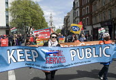May Day, International Workers Day protest, London. UNISON public service workers from Barnet Council on the march. - Stefano Cagnoni - 01-05-2015