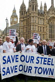 Steelworkers lobbying Parliament to Save Our Steel, prior to a debate on the future of the UK steel industry. - Stefano Cagnoni - 2010s,2015,activist,activists,banner,banners,campaign,campaigner,campaigners,campaigning,CAMPAIGNS,capitalism,capitalist,closed,closing,closure,closures,Community Union,DEMONSTRATING,demonstration,DEM