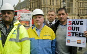 Steelworkers lobbying Parliament to Save Our Steel, prior to a debate on the future of the UK steel industry. - Stefano Cagnoni - 2010s,2015,activist,activists,campaign,campaigner,campaigners,campaigning,CAMPAIGNS,capitalism,capitalist,closed,closing,closure,closures,communities,Community,Community Union,DEMONSTRATING,demonstrat