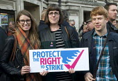 TUC Rally and Lobby against Trade Union Bill, Westminster, London, 2015. Young EQUITY members at the Rally. - Stefano Cagnoni - , Trades Union,2010s,2015,activist,activists,against,anti union law,Anti Union laws,anti union legislation,at,CAMPAIGN,campaigner,campaigners,campaigning,CAMPAIGNS,DEMONSTRATING,demonstration,DEMONSTR
