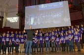 TUC Rally and Lobby against Trade Union Bill, Westminster, London, 2015. UNISON Choir singing at the Rally. - Stefano Cagnoni - 02-11-2015