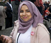 A young, Muslim supporter of Jeremy Corbyn's bid to become elected Leader of the Labour Party waits patiently outside the QEII Centre in Westminster for the result of the membership ballot to be annou... - Stefano Cagnoni - 12-09-2015
