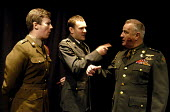 Actors Simon de Deney, Jonathan Bruun and Clement von Franckenstein in Passion Pit Theatre's production of The Madness of George Dubya or Strangelove Revisited - a play staged in protest at the potent... - Stefano Cagnoni - 11-01-2003