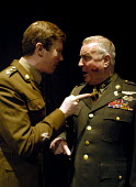 Actors Simon de Deney and Clement von Franckenstein in Passion Pit Theatre's production of The Madness of George Dubya or Strangelove Revisited - a play staged in protest at the potential war in the G... - Stefano Cagnoni - 11-01-2003