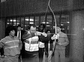 Greater London Council Leader Ken Livingstone takes aim with his bow at the opening of the Brixton Recreation Centre in 1985, as Fatima Whitbread - Stefano Cagnoni - 01-03-1985
