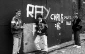 Teenage youths hanging around on a Liverpool Street. Statistics show that young men are both the main perpetrators and the main victims of street related crime - Stefano Cagnoni - 03-07-1991
