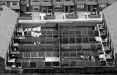 Gardens attached to low rise council houses as viewed from a high rise block of flats - Stefano Cagnoni - 03-07-1991