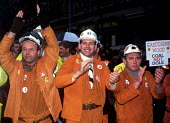 Miners march through London in protest at the plans to close more of the nation's pits - Stefano Cagnoni - 25-10-1992