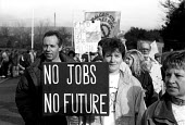 Protestors on march against the closure of Portland naval base in December 1992 - Stefano Cagnoni - 15-12-1992