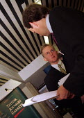 Student from City University in conversation with advisor at careers fair - Stefano Cagnoni - 21-11-1997