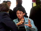 Student from City University in conversation with careers advisor at careers fair - Stefano Cagnoni - 10-03-1999