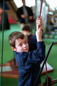 Six year old boy learning through play with a hands-on exhibit at the Exploratory Science Museum in Bristol; many of the science gallery's displays are linked to the National Curriculum - Stefano Cagnoni - 27-02-1999
