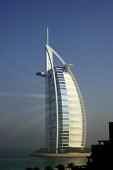 Burj Al Arab luxury Hotel, Dubai, UAE. The hotel was designed by the British architect Tom Wright. Known as The Tower of the Arabs, also known as The Arab Sail - Simon Edwards - 10-10-2007