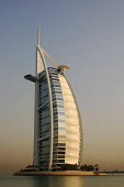 Burj Al Arab luxury Hotel, Dubai, UAE. The hotel was designed by the British architect Tom Wright. Known as The Tower of the Arabs, also known as The Arab Sail - Simon Edwards - 04-10-2007
